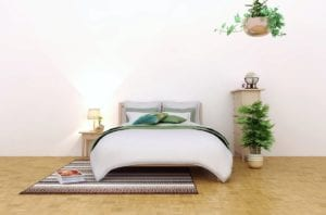 The bedroom is best painted in light pastel colors